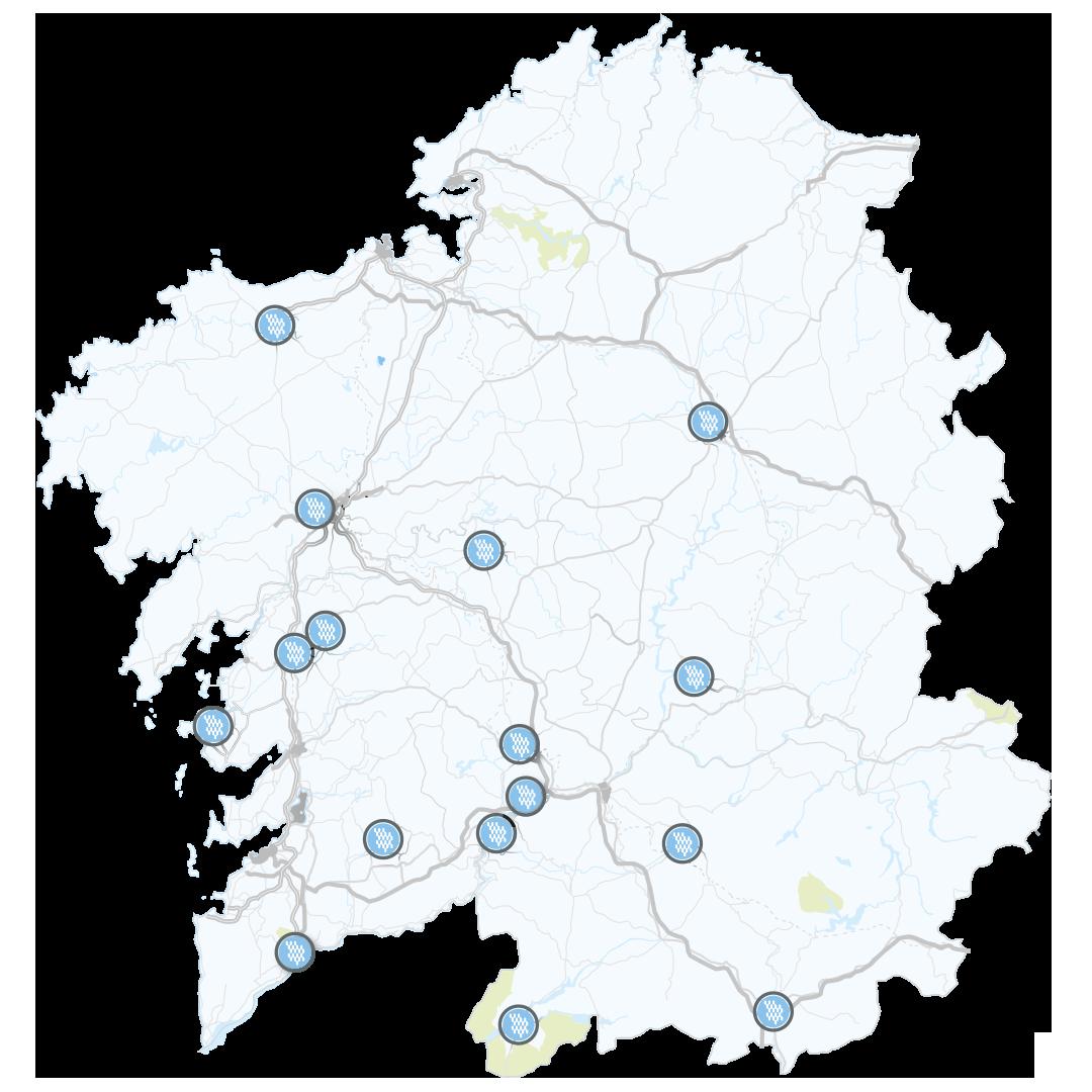 Balnearios de Galicia Map