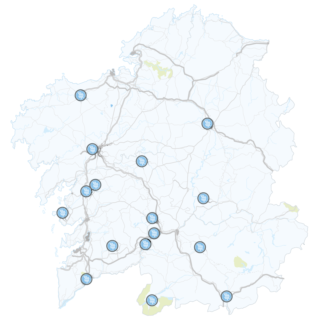 Carte des Spas de Galice