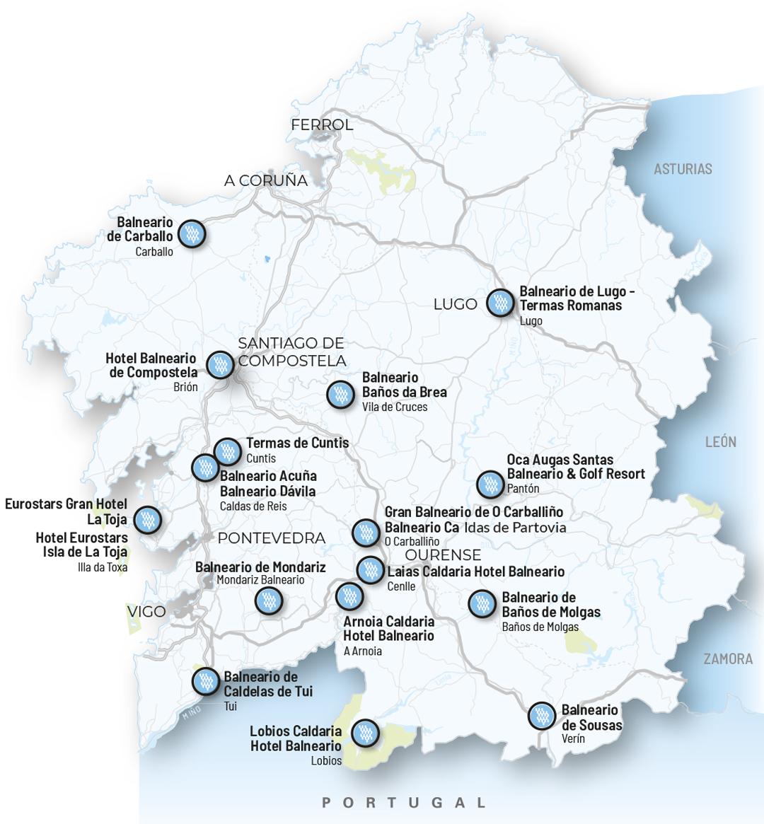 Mapa de auga de Galicia